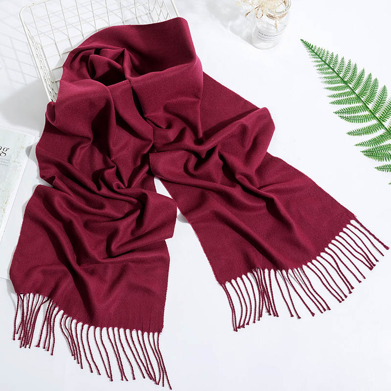Hot  Winter Popular Warm Cashmere High Quality Fashion Women Scarf Shawl Solid Tassel