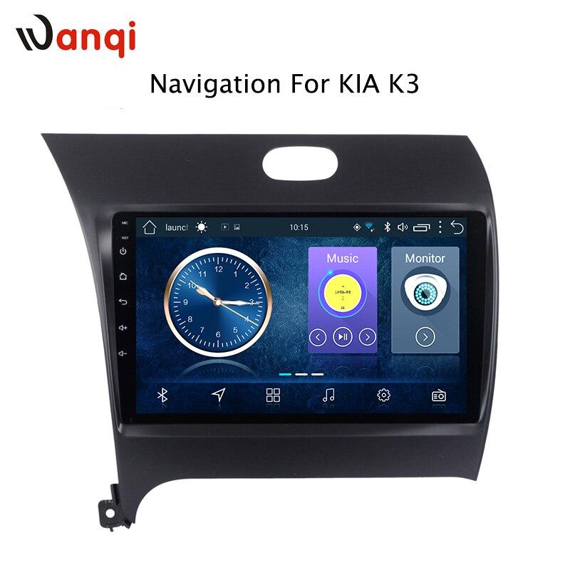 9 pouces HD LED plein écran tactile Android 8.1 GPS Navigation pour Kia k3 2013-2017 système stéréo avec Bluetooth RDS