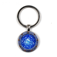 Keychain Glass Time Gem Key Jewelry DIY Custom Photo Personality Gift personalized Keychains gifts for men Atlantis