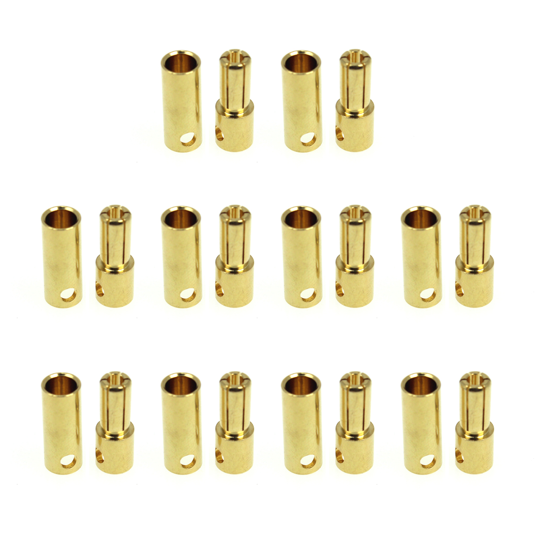 5 Set 3.5mm Gold Bullet Banana Connector plug 3.5 mm Thick Gold BS$T