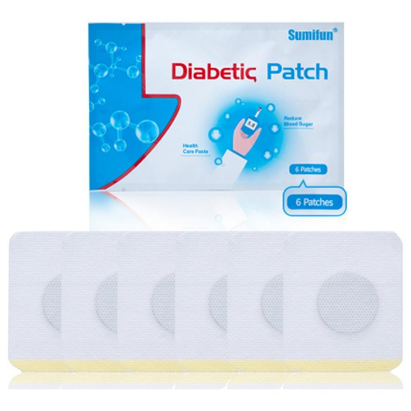 6pcs 1 Set Diabetes Patch Diabetic Patch Control Blood Sugar Plaster Natural Herbs Reduce High Blood Sugar Sticker Repair Patch in Scrubs Bodys Treatments from Beauty Health