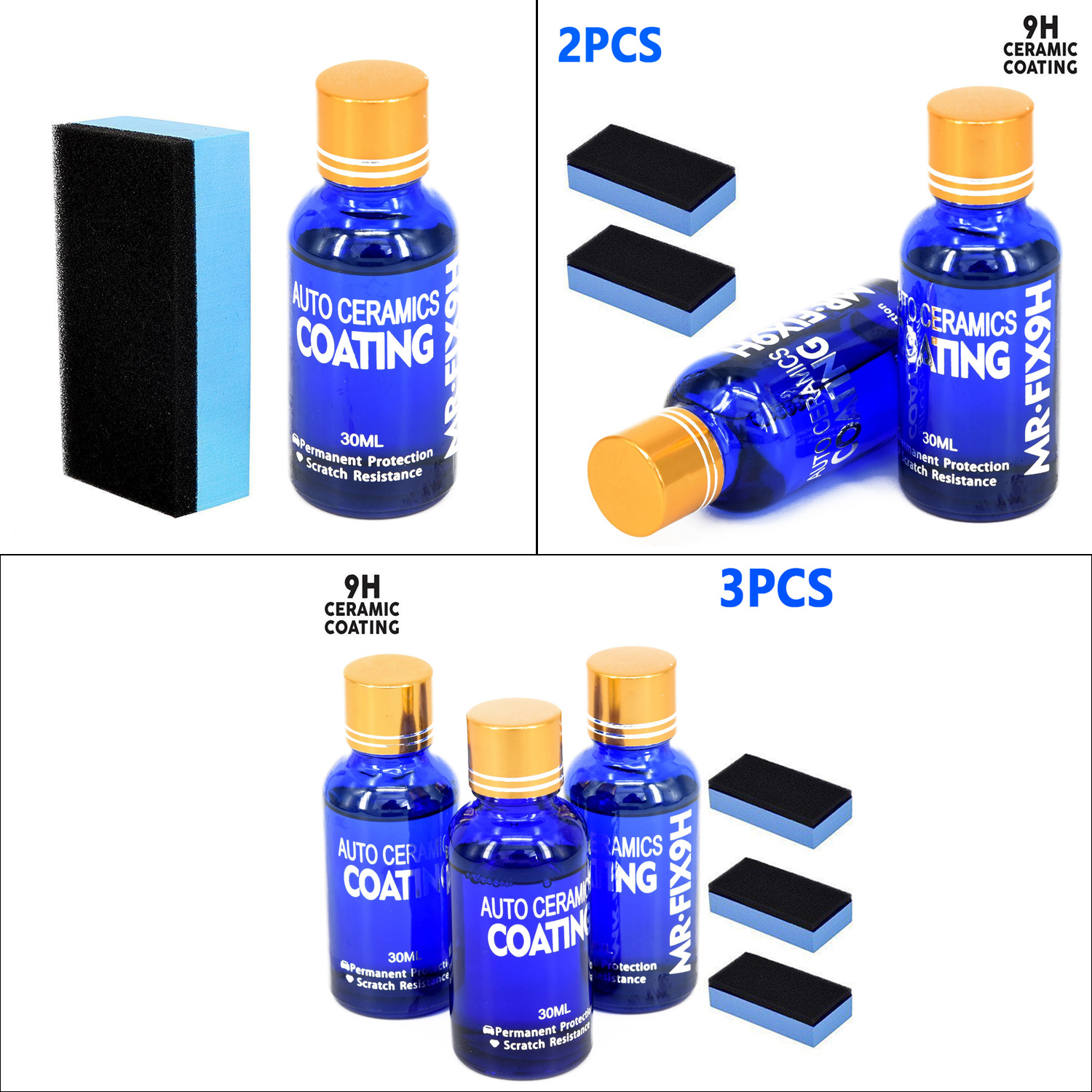 Image 2 - 1/2/3pcs 9H Nano Ceramic Car Glass Coating Liquid Hydrophobic Anti Scratch Auto Care accessories parts for cars body-in Paint Protective Foil from Automobiles & Motorcycles