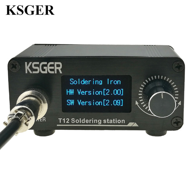 KSGER T12 OLED Soldering Iron Station STM32 V2.01 DIY Kits FX9501 Electric Tools Temperature Controller Stings Welding Tips MIni