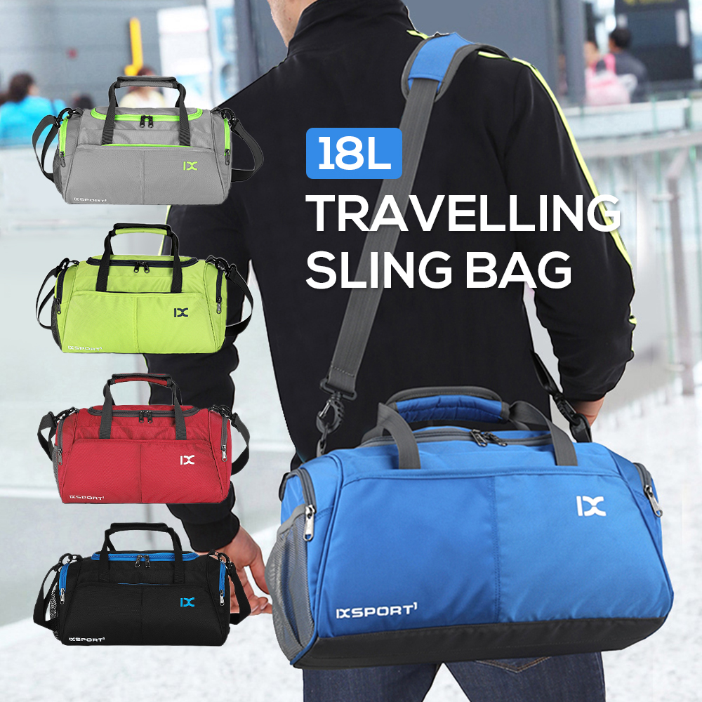 18L Waterproof Travel Duffele Polyester Bag With Separate Shoe Compartment For Men Women Sports Gym Tote Outdoor Travel Bag