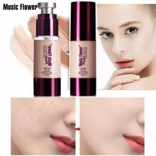 Music Flower Foundation Soft Matte Full Coverage Liquid Face Makeup Base Waterproof Concealer Sweat-proof SPF 25 30mL