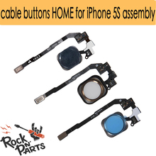 Flex cable buttons HOME for iPhone 5S assembly Black WHITE GOLD