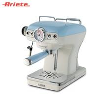 Рожковая кофеварка Ariete Vintage 1389 цвет голубой, быстрое приготовление, металлический рожок с двумя фильтрами, съемный резервуар для воды, приготовление капучино, поддон для капель
