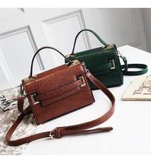Crocodile Crossbody Bags For Women Leather Handbags Female Small Shoulder Bag Women Messenger Bags Ladies Hand Sac Tote Bag стоимость