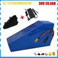 1000 Вт 36В 20AH ebike литиевая батарея 36В 20.3AH треугольная батарея использовать Panasonic 2900mah сотовый 30A BMS 2A зарядное устройство с треугольной сумкой