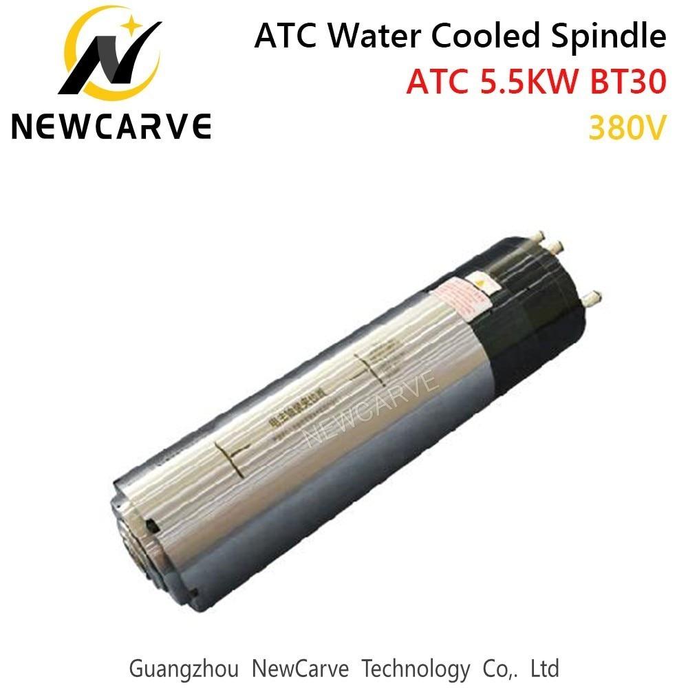 Eixo automático refrigerado a água da mudança da ferramenta do eixo 5.5kw 18000rpm atc para o corte do metal com bt30 220 v 380 v newcarve