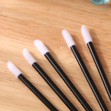 50pcs  Cotton Swab Mascara Wands Lip Brush Pen Cleaner Cleaning Eyelash Disposable Makeup Brush Applicators Make Up Brushes set