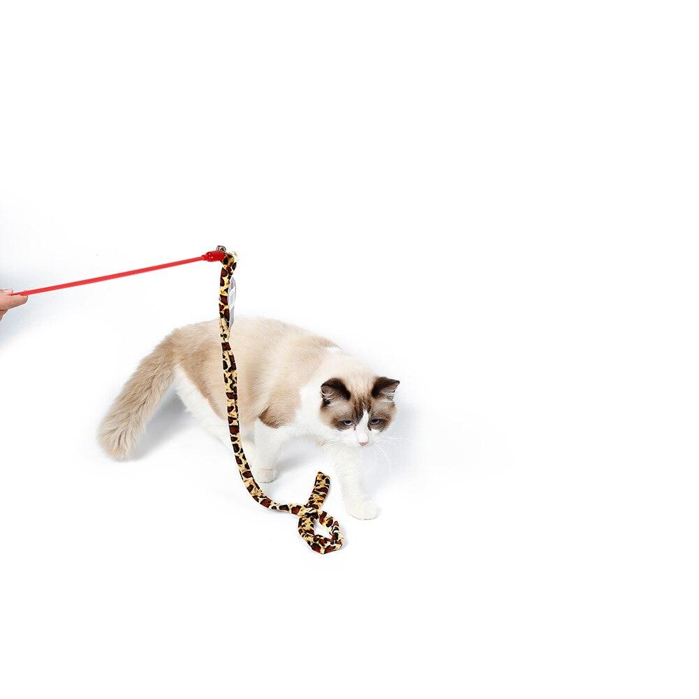 Kat Dangler Kat Teaser Danser Met Bell Interactieve Wand Speelgoed Met Bel Voor Huisdier Regenboog Bruine Streep