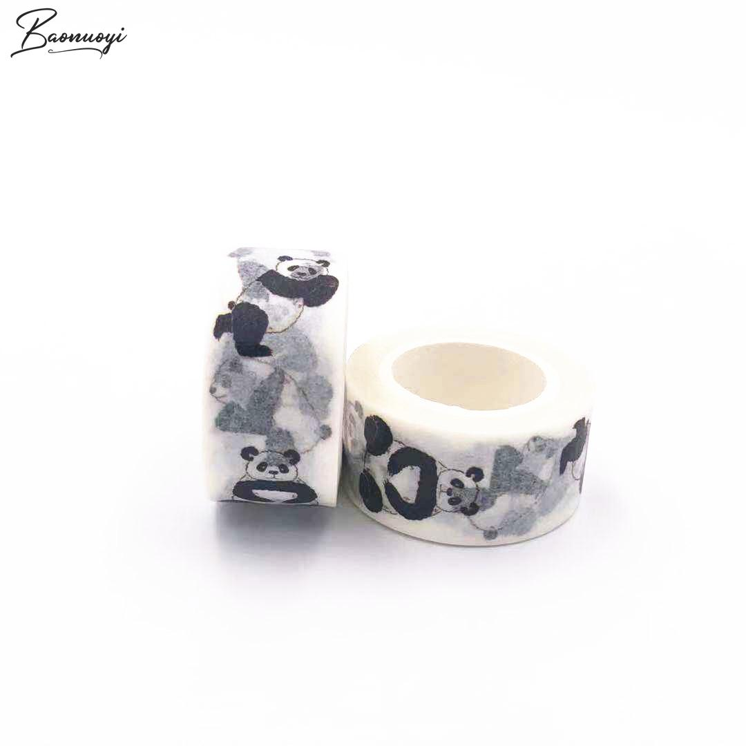 Panda Washi Tape For DIY Gift Wrapping Scrapbooking And Craft Sticky Adhesive Paper Masking Tape With Lovely Printing Sticker