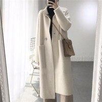 Winter Loose Coat Long Imitate Mink Villus Clothes Woman Cardigan Thickness
