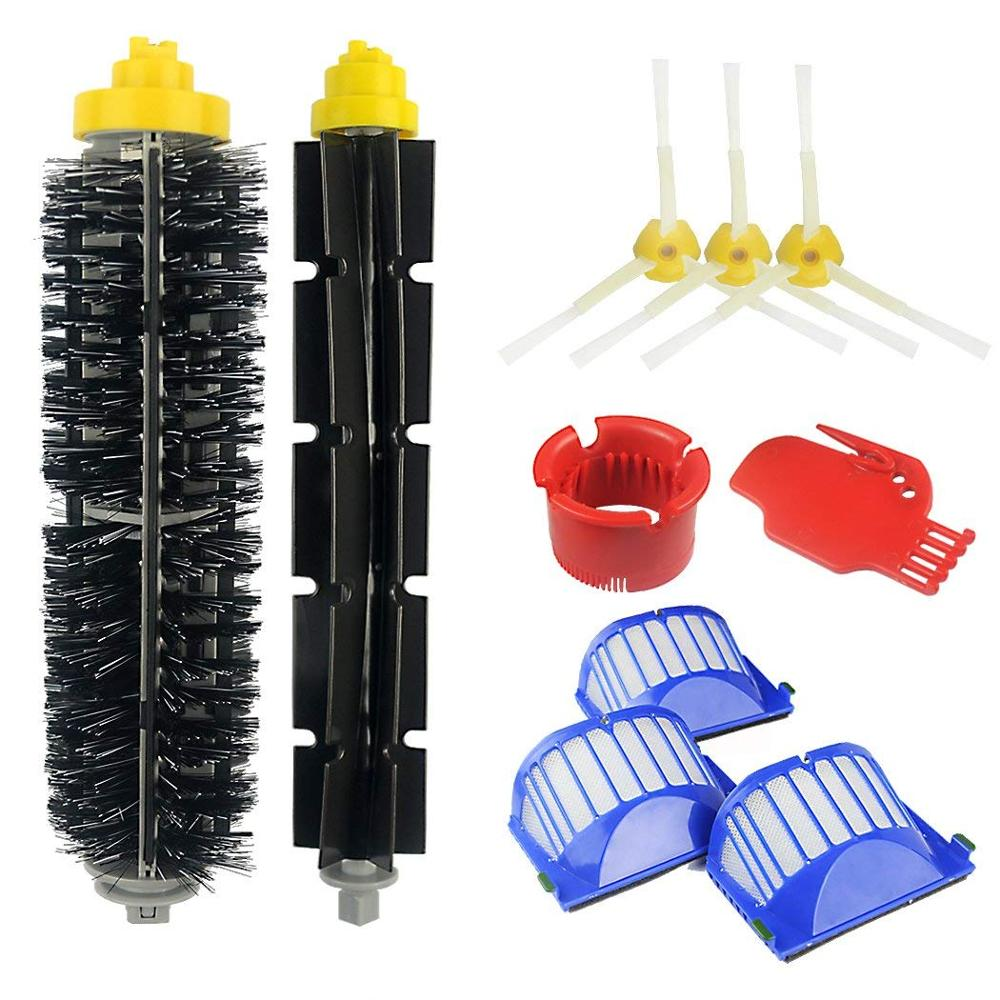 Parts For IRobot Roomba 600 620 630 650 660 675 680 690 Vacuum Bristle Kit 600 Series Replacement Brushes Accessories N30C