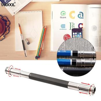 Adjustable Dual Head Pencil Extender Holder Sketch School Office Art Write Tool Pen Holder for Students Gifts Dropshipping 1