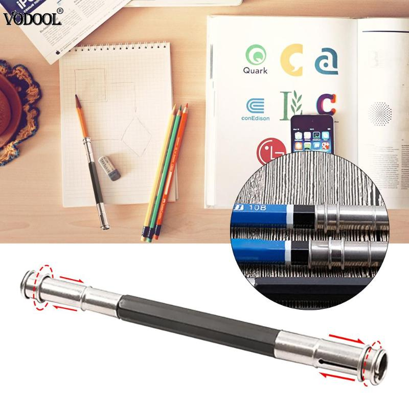 Adjustable Dual Head Pencil Extender Holder Sketch School Office Art Write Tool Pen Holder For Students Gifts Dropshipping Handy