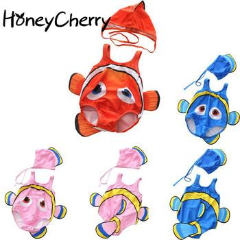 Nowy strój kąpielowy dla dzieci dla chłopców połączone niemowlęta Clownfish dzieci niemowlęta i dziewczynka stroje kąpielowe strój kąpielowy dla dzieci tanie i dobre opinie HoneyCherry Unisex 7-12m 13-24m 25-36m Poliester spandex Pasuje prawda na wymiar weź swój normalny rozmiar Zwierząt