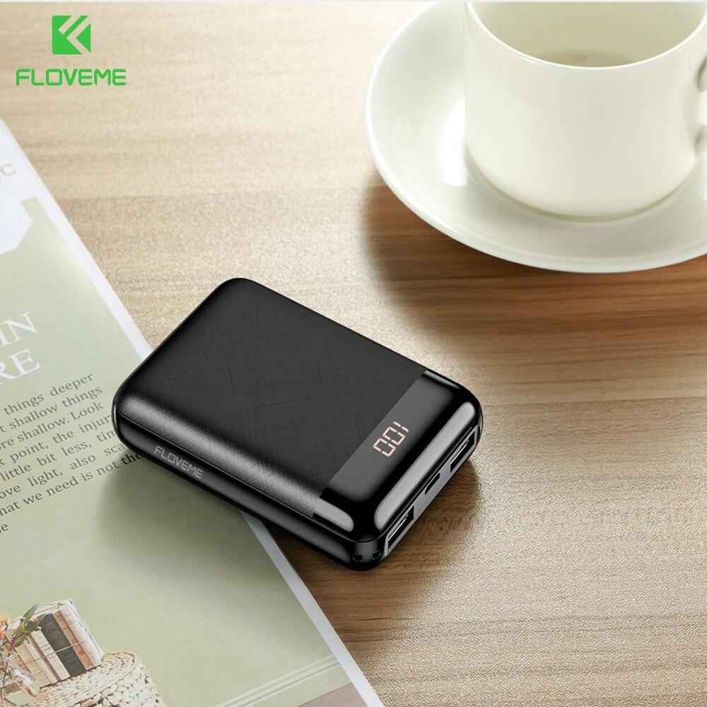 FLOVEME batterie externe pour iPhone Xiao mi mi mi ni Pover banque 10000 mAh LED affichage Powerbank batterie externe appauvrissement chargement rapide
