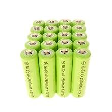 2-24pcs 1,2 V NiCd AA 2800mAh аккумуляторная прочная батарея для фонарика зеленого цвета