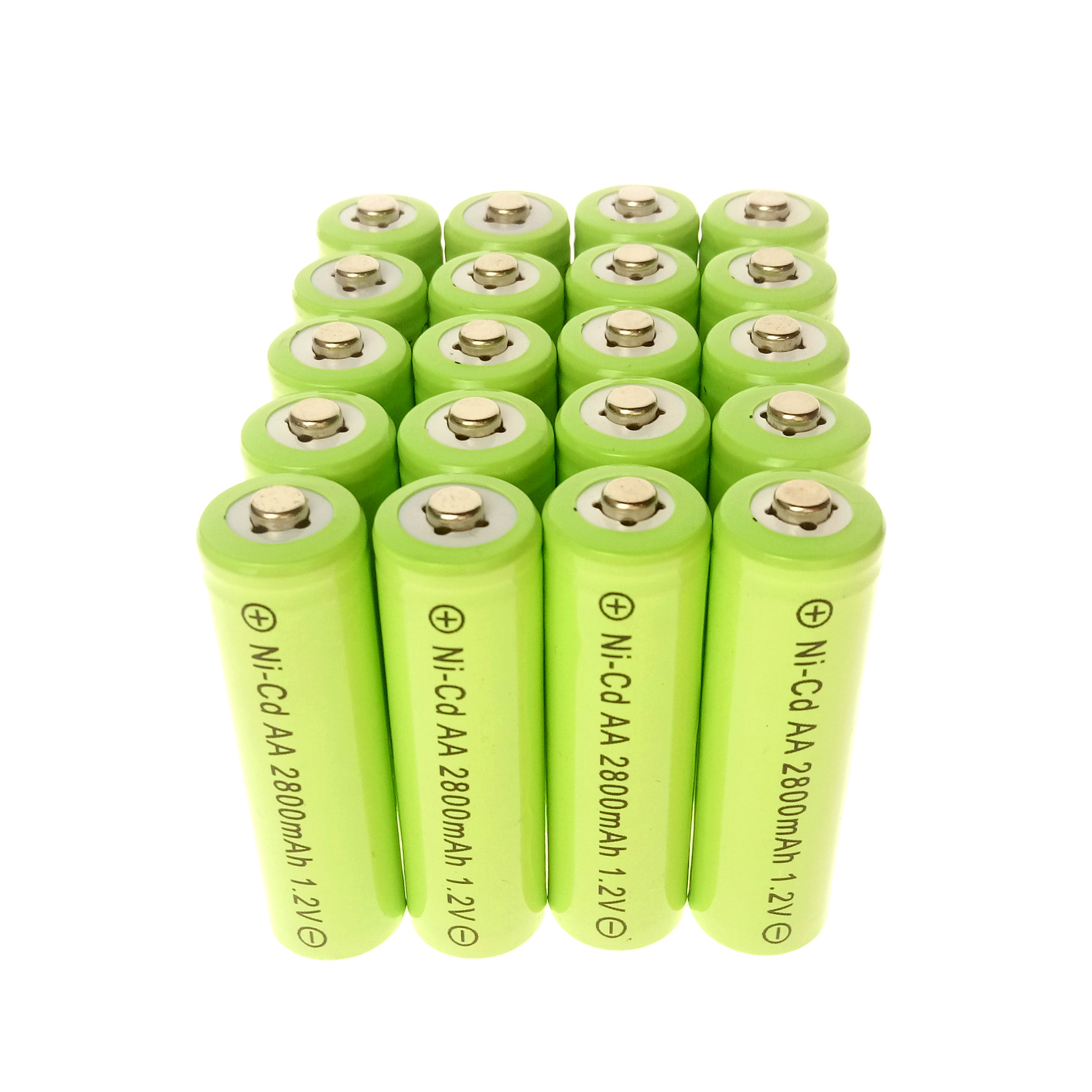 2-24pcs 1.2V NiCd AA 2800mAh Rechargeable Durable Battery For Flashlight Green