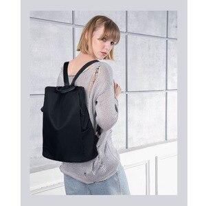Image 2 - Coofit 디자이너 여자 브랜드 배낭 패션 나일론 방수 안티 절도 여자 가방 mochila escolar 학교 배낭