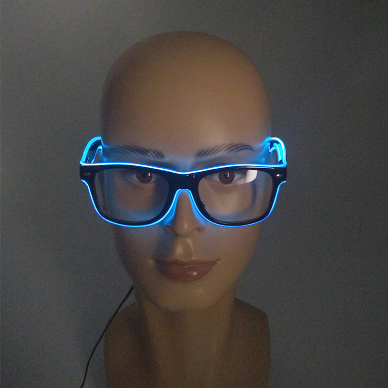 Hot Sales Flashing EL Wire LED Sunglasses Carnival Party Decorative Props Bright Light Up Glasses Holiday Lighting Supplies