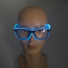 Hot sales Flashing EL Wire LED Sunglasses Carnival Party Decorative Props Bright