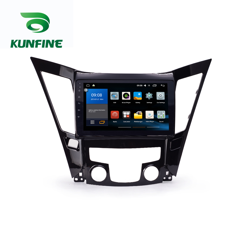 Octa Core 1024*600 Android 8.1 Car DVD GPS Navigation Player Deckless Car Stereo For Hyundai  Sonata 2011-13 Radio Headunit WIFI