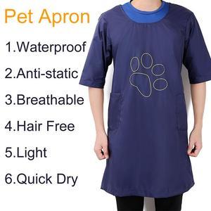 Tienda de mascotas, esteticista, ropa de trabajo, secado rápido, ligero, profesional, impermeable, Media manga, delantal de gato, delantal de baño para perros, ropa de Bata