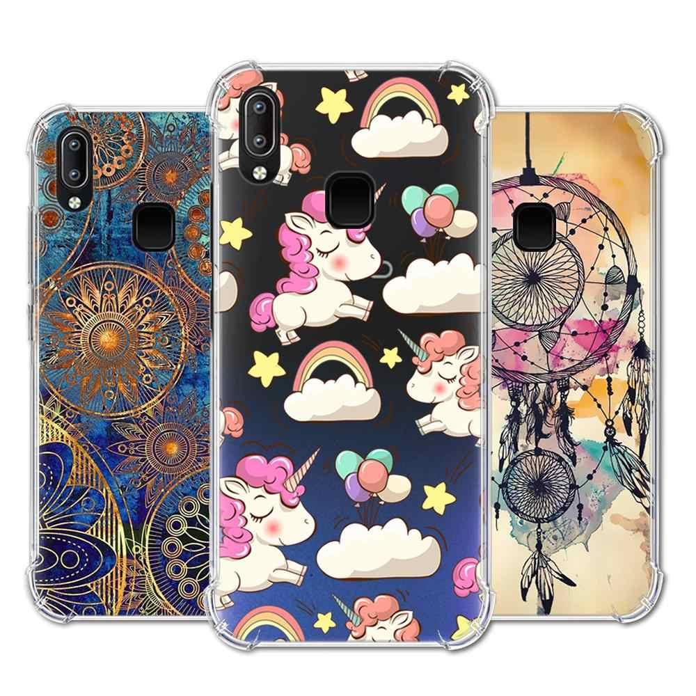 Anti-falling telefon etui na Vivo Y91 / Y95 / U1 / Y91i stylowy malowane z poduszką powietrzną powrót telefon skrzynki pokrywa