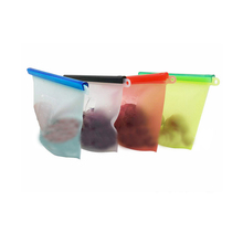 20*18cm Reusable Silicone Bag With Zipper Eco-friendly Ziplock Food Storage Bag Fresh Keeping Sandwich Snack Packaging Bags 3