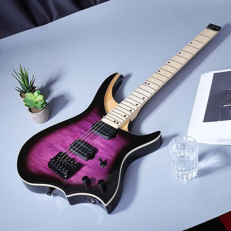 75 cm 24 frettes 6 cordes guitare basse électrique érable bois cou touche guitare électrique haute qualité Instrument à cordes musicales