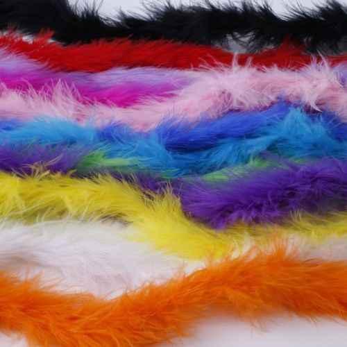 2 M 1 stripFeather Boa Strip Fluffy Craft เครื่องแต่งกาย Dressup งานแต่งงานตกแต่ง Party เครื่องแต่งกายผ้าคลุมไหล่ม