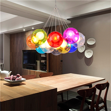 цена Modern Color Bubble Ball Light Pendant LED Pendant Lamps Home Decoration Hanging Lamp Living Room Restaurant Lighting Luminaire онлайн в 2017 году
