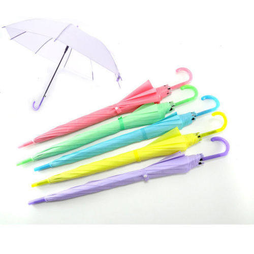 Clear Прозрачный дождевой зонт зонтик купол для Свадебная вечеринка пользу красочные