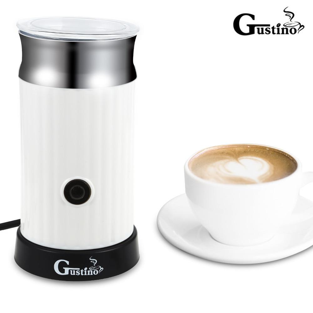 Gustino Automatic Cappuccino Coffee Maker Electric Milk Bubble Machine Milk Frother Foamer Cup Heat Latte Hot