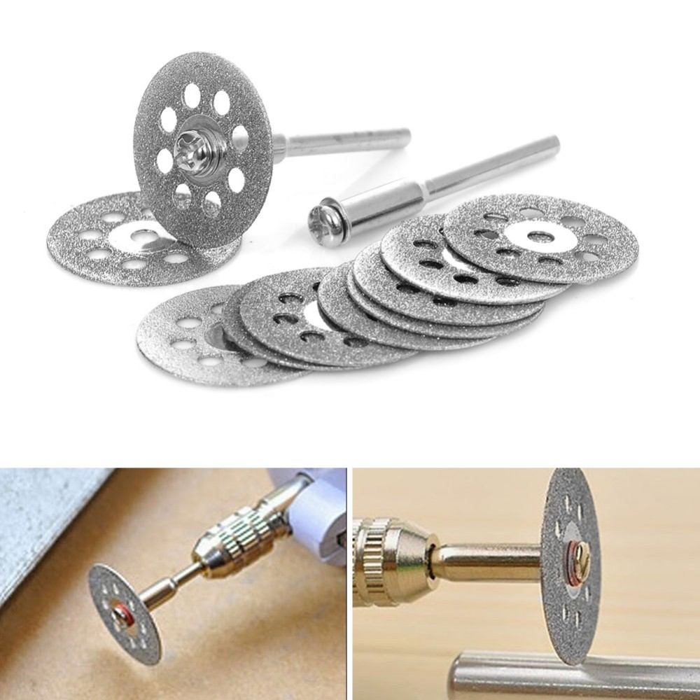 12Pcs Rotary Tool Circular Saw Blades Cut Wheel Discs Mandrel Cutoff Power Tools Multitool For Carpentry And Craft Drop Shipping