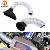 POSSBAY Universal Air Intake Pipe Car SUV Air Intake Pipe Kit Front Bumper Turbo Turbine Inlet Pipe Air Funnel Cold Air Filter