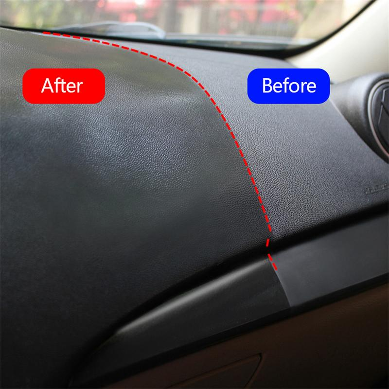 120mL Car Wax Auto Interior Restorer Dashboard Leather Trim Seat Glossing Wax Maintenance Cleaning Tools Dust Removal Liquid