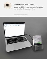 New USB3.0 SATA External Mobile Hard Drive Base for 2.5/3.5 Inch Universal SATA Serial HDD Enclosure SSD M2 TF SD Slot Hard Disk