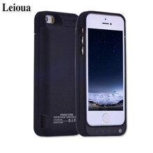 Leioua для Iphone 5 5c 5S SE Аккумулятор Чехол 4200 mah чехол с Батарея лучший внешний Портативный Мощность Bank с держателем