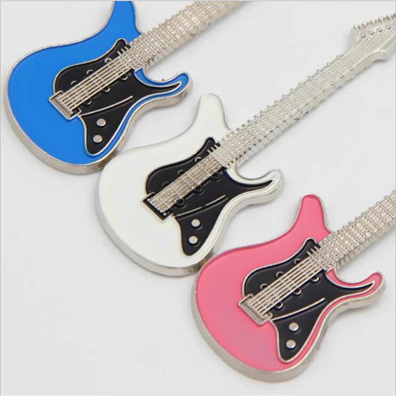 1 шт. брелок-гитара Креативный дизайн бас гитара музыкальный инструмент брелок на подарок модный кулон