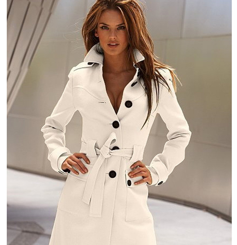 Slim Womens   Coats   2019 Winter Single Breasted Wool Blend   Coat   and Jacket Sashes Ladies   Coats