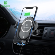FLOVEME Gravity Car Phone Holder 10W Qi Wireless Charger For iPhone X XR Air Vent Mount Car Holder For Samsung S10 S9 Stand