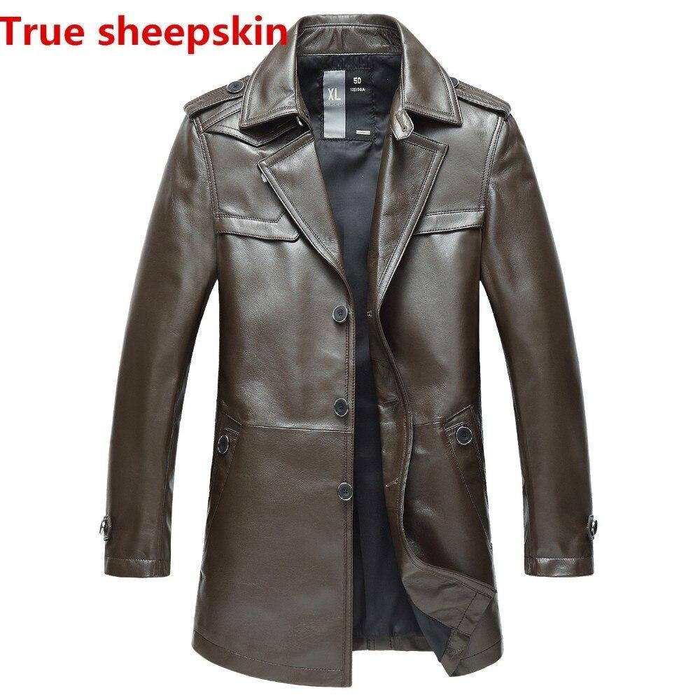 % D'hiver vestes hommes en peau de mouton denim manteaux vêtements de fourrure véritable mâle en cuir bomber homme 5xl 6xl 10XL 9XL 8XL longue
