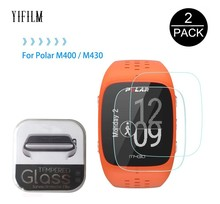 2Pack For Polar M430 M400 0.3mm 2.5D 9H Clear Tempered Glass Screen Protector GPS Smart Sports Watch Explosion Proof LCD Film