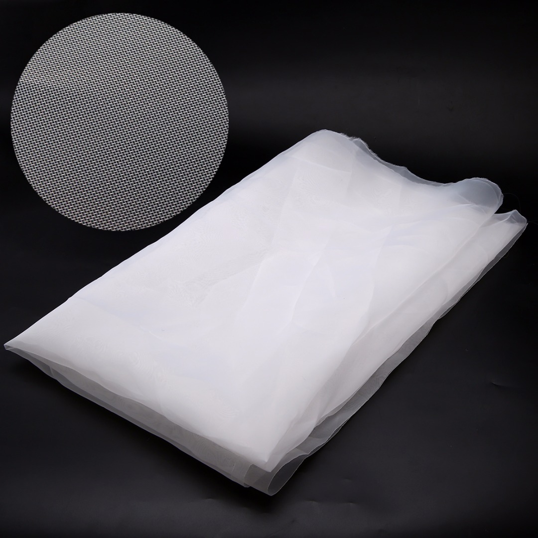 High Strength 43T 110M Mesh White Polyester Silk Screen Printing Mesh Non-toxic Fabric DIY Household Craft Accessory 100*127cm
