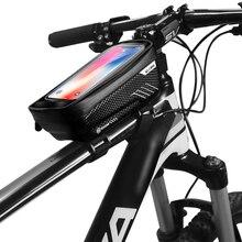 Дикий человек велосипед мешок Водонепроницаемый Пресс Экран Мобильный телефон сумка Велоспорт передней верхней трубы рамы мешок мобильного телефона велосипед аксессуар