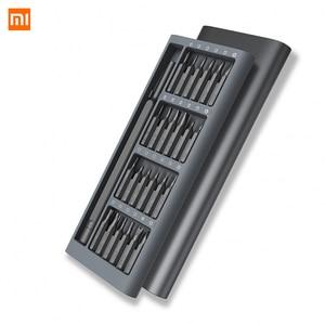 Image 2 - Xiaomi Kit de destornilladores de precisión Mijia Wiha 24 en 1, brocas magnéticas de 60hrc, herramientas de reparación para el hogar
